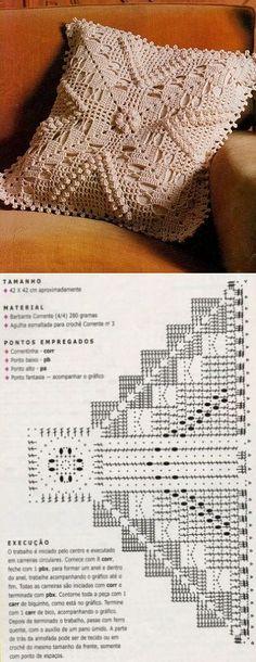 Crochet Bedspread, Crochet Cushions, Crochet Pillow, Crochet Art, Crochet Motif, Crochet Doilies, Free Crochet, Crochet Blocks, Crochet Squares
