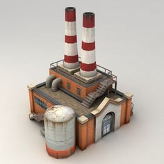 Iconic image of a powerplant (architecture 3D models) by Kvakling
