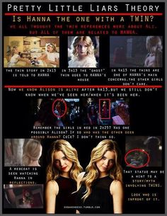 Hanna has a twin theory - Pretty Little Liars @Taylor Hamilton look at this!