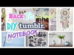 New back to school DIY tumblr notebook www.youtube.com/thatsyana youtube: Thatsyana