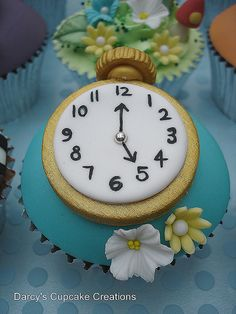White Rabbit's Pocket Watch -   Alice In Wonderland Collection by Darcy's Cupcake Creations, via Flickr