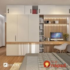 Krajšie riešenia sme ešte nevideli: Títo ľudia nechceli mať v byte obyčaj… We haven't seen better solutions: These people didn't want to have ordinary built-in wardrobes in the apartment – those ideas will amaze you! Study Table Designs, Study Room Design, Kids Room Design, Home Office Design, Home Interior Design, Office Style, Wardrobe Design Bedroom, Bedroom Cupboard Designs, Bedroom Cupboards