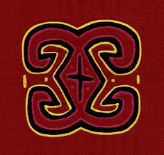 Gorgeous Goddess Symbol 3 Layer Kuna Mola  Hand Sewn by molamama, $17.50