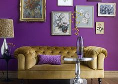 One of 9 Surprising Color Combinations We Bet You Haven't Thought Of via @PureWow - PURPLE AND GOLD (=)
