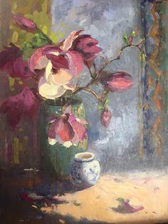 "Laurie Hendricks     ""Chinese Magnolias"" 24""x 18"""