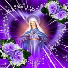 Blessed Mary, Mother of God Mother Teresa Prayer, Blessed Mother Mary, Blessed Virgin Mary, Pictures Of Jesus Christ, Religious Pictures, Virgin Mary Art, Spiritual Prayers, Spiritual Images, Images Of Mary