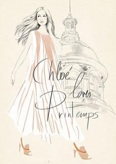 Sandra Suy's illustration for Chloe loves Printemps