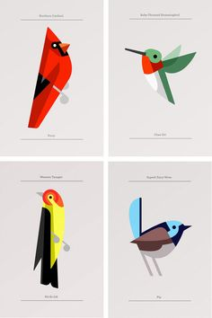 This lovely series was created by Portland, Maine based artist and designer Josh Brill. I love how he took something so incredibly detailed and made it simple and just as beautiful. They're so cute and graphic I just love the series, including the other animals he's made into illustrations.