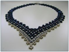 Netted necklace (Russian)