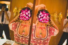 More flowers! Photo by Royale Frames, Mumbai Awkward Photos, Awesome Wow, Camera Shy, Lehenga Choli, Saree, Wedding Hairstyles, Bridal Hairstyle, Wedding Memorial, Wedding Frames