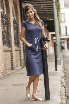 Clothesline Dress Navy | Blue Bayou by Shabby Apple