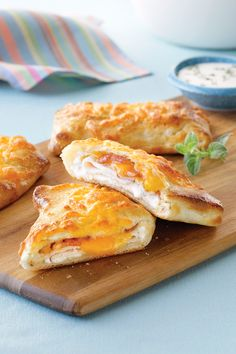Home-Made Hot Pockets Turkey Bacon Ranch Recipe   Safeway - These hot sandwiches stuffed with Primo Taglio oven roasted sliced turkey, shredded Lucerne cheddar cheese and ranch dressing are a great way to make lunch more interesting.