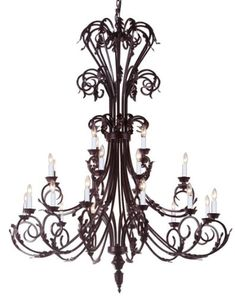 "Large Foyer / Entryway Wrought Iron Chandelier 50"" Inches Tall!! H50"" x W30"" The Gallery http://www.amazon.com/dp/B00NFL2M5M/ref=cm_sw_r_pi_dp_JZPavb1EF83X5"