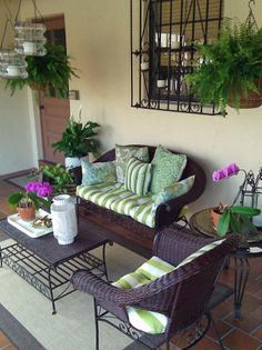 Smart Chic Outdoor Living - Refurbish Your Patio - Luxury Outdoor Spaces for Less on @HGTV - A Covered Patio Makeover by Lynda Quintero-Davids aka nyclq of Focal Point Styling