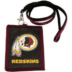 NFL Washington Redskins Beaded Lanyard with Nylon Wallet by Rico. $10.46. Going to the game or going out; keep your essentials secure with Rico Tag's Beaded Lanyard with Nylon Zippered wallet.  Double row of team color beads on lanyard with lobster claw to hold nylon wallet.  Wallet boasts officially licesned team logo with outlined team color beading.  Zippered closure.. Save 30%!
