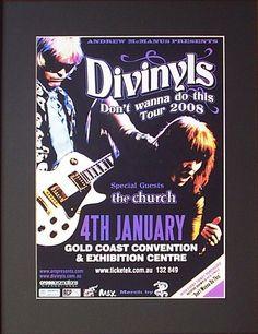 DIVINYLS 2008 Australian Tour Poster  Ready for Framing