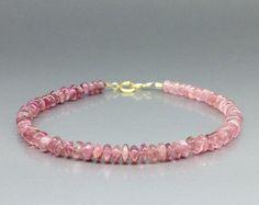 Fine pink Tourmaline bracelet two strings of by GemoryDesign