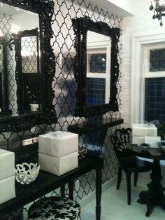 Modern Gothic Decor pink painted mirror frame | interior design home decorating