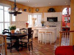 terra cotta kitchen | Terra cotta white