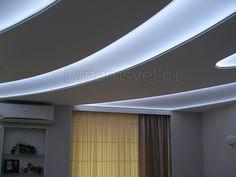 Светодиодное освещение светопрозрачного натяжного потолка.