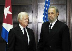 Junto al ex presidente de los Estados Unidos, James Carter durante la visita…