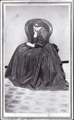 portrait of a woman in mourning, ca. 1860-80's