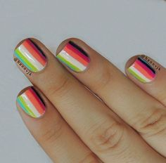 Colorful linear patterned abstract design. A rather simple design but fun to look at and easy to paint by yourself.