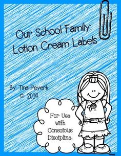 Cream Labels to aid students with self-regulation! Follows Conscious Discipline and the use of the Safe Place!