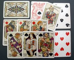 2 of my favorite obsessions: Shakespeare and antique playing cards! These are from 1920.