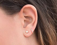 Image Result For 2nd Hole Piercing 2 Ear Piercings Studs Second