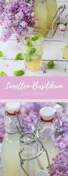 Leckeres Rezept für Limetten-Basilikum-Limonade zum Selbermachen!