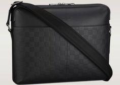 nosa bolsa carteiro louis vuitton em couro calypso