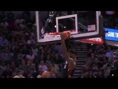 Manu Ginobili dunk avec rage sur Chris Bosh