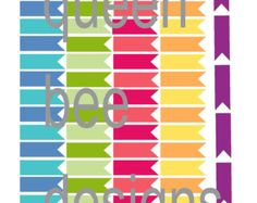 BLANK Horizontal Flag Reminder Event Stickers, great for  Erin Condren Life Planners, Filofax or other agendas