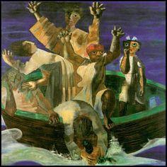 Portinari. A barca, tela, 1941, Museus Castro Maya, Rio