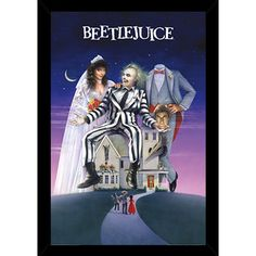 """BEETLEJUICE: Directed by Tim Burton. With Alec Baldwin, Geena Davis, Michael Keaton, Annie McEnroe. A couple of recently deceased ghosts contract the services of a """"bio-exorcist"""" in order to remove the obnoxious new owners of their house. Film Movie, See Movie, 80s Movies, Great Movies, Horror Movies, Movies To Watch, Childhood Movies, Crazy Movie, Awesome Movies"""