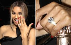 Ciara's engagement ring is stunning!
