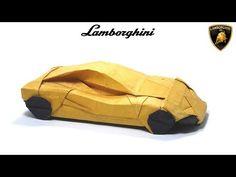 ORIGAMI LAMBORGHINI TUTORIAL (Im Young Gwang) 折り紙 スポーツカー SPORT CAR Automobile Cabriolet - YouTube