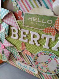 Album scrapbook para Berta