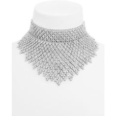BaubleBar Aries Crystal Choker Bib ($72) ❤ liked on Polyvore featuring jewelry, necklaces, chokers, crystal choker, bib choker necklace, crystal necklace, crystal stone necklace and bib necklaces