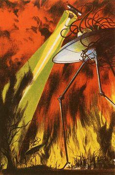 BRUDE'S WORLD : The War of the Worlds illustration by Joseph Mugnaini, 1964