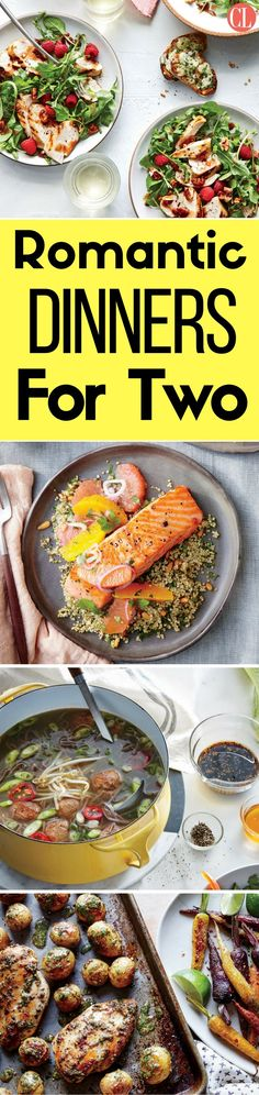 Whether you're planning a luxurious evening at home or a casual dinner date for two, find the perfect recipes for your meal. Whether you're ready to roll your own spring rolls or dying to fire up the grill, these recipes for two make it easy for you to grab a shopping list, hit the store, and get ready for a fantastic dinner. | Cooking Light