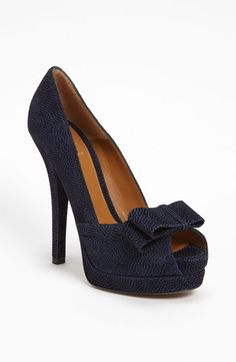 Oy vay. How can you not be obsessed with these? That's right, you can't. (Fendi 'Decco' Pump in Blue Suede) $790