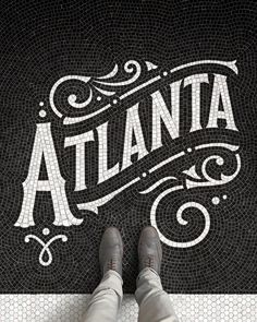 Atlanta Art Print by Fauxsaics - X-Small Typography Love, Vintage Typography, Typography Quotes, Typography Inspiration, Typography Letters, Design Inspiration, Type Design, Logo Design, Graphic Design