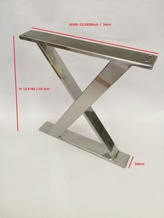 14inch X Frame stainless steel bench base ottoman base by IDAMETAL