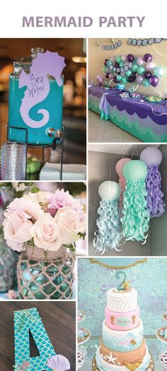 4 Party Themes We Adore LinenTablecloth – Girl Birthday Ideas Mermaid Theme Birthday, Baby Girl First Birthday, Bday Girl, First Birthday Parties, First Birthdays, Birthday Ideas, 4th Birthday, Theme Parties, Party Themes For Girls