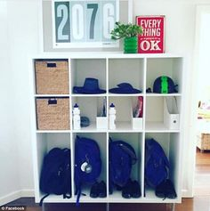 Mothers share perfectly organised storage shelves for a stress-free school run | Daily Mail Online