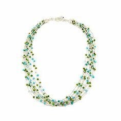 Jay King Turquoise and Blue Topaz Necklace