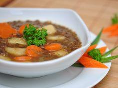 #Soupe rustique aux #lentilles et légumes d'hiver