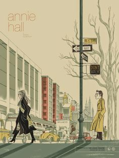 """""""You know how you're always trying to get things to come out perfect in art because it's real difficult in life"""" Woody Allen, Annie Hall, 1977 Annie Hall Movie, Film Annie, Woody Allen, Tour Posters, Film Posters, Art Posters, Anne Hall, Image Film, Alternative Movie Posters"""